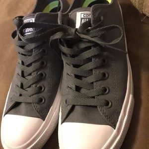 Converse Shoes - Super cute gray Converse only worn one time